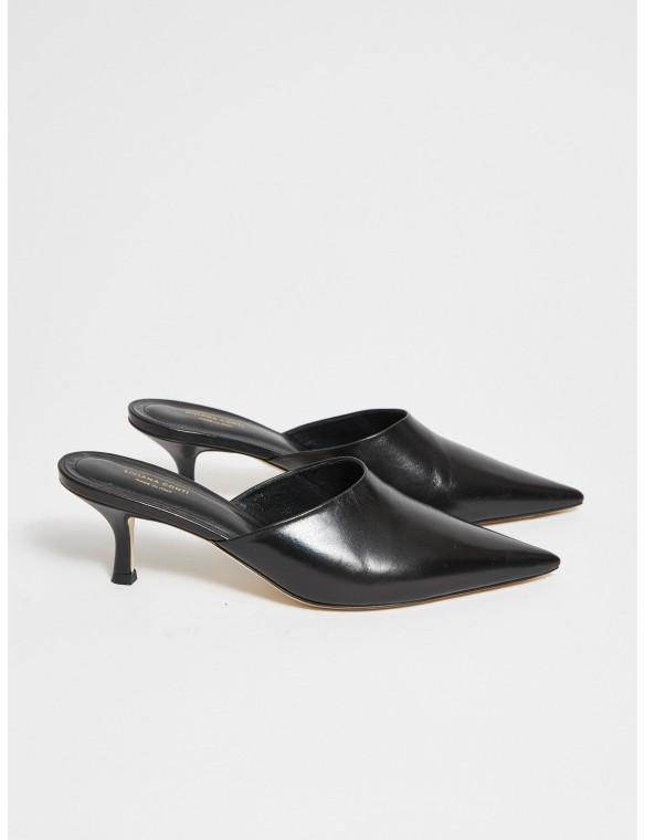 Black clog with heel