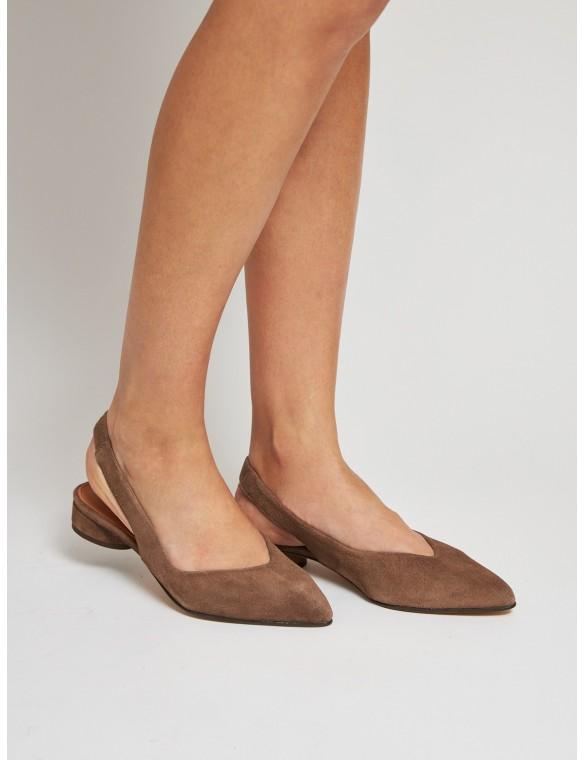 Open heel shoe