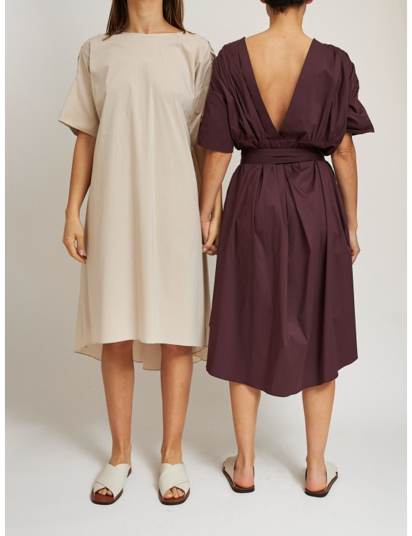 Gather sleeve dress