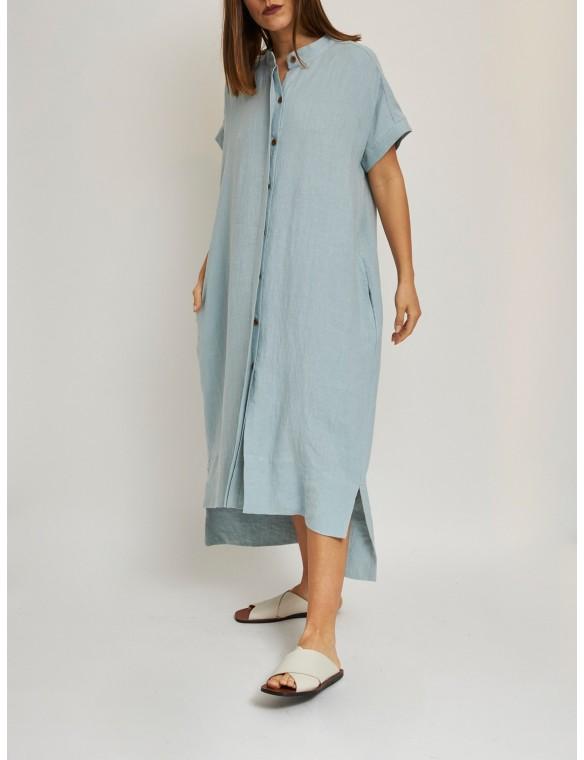 Asimetric linen dress