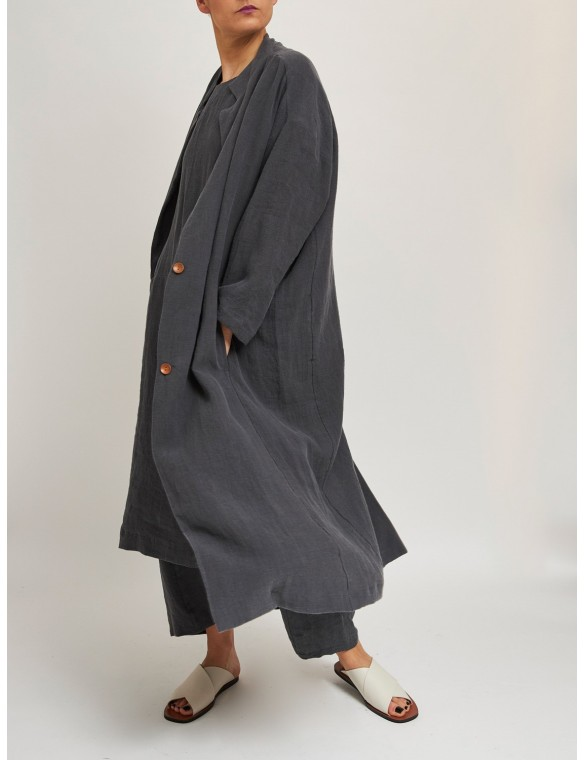 Loose coat 100% organic cotton