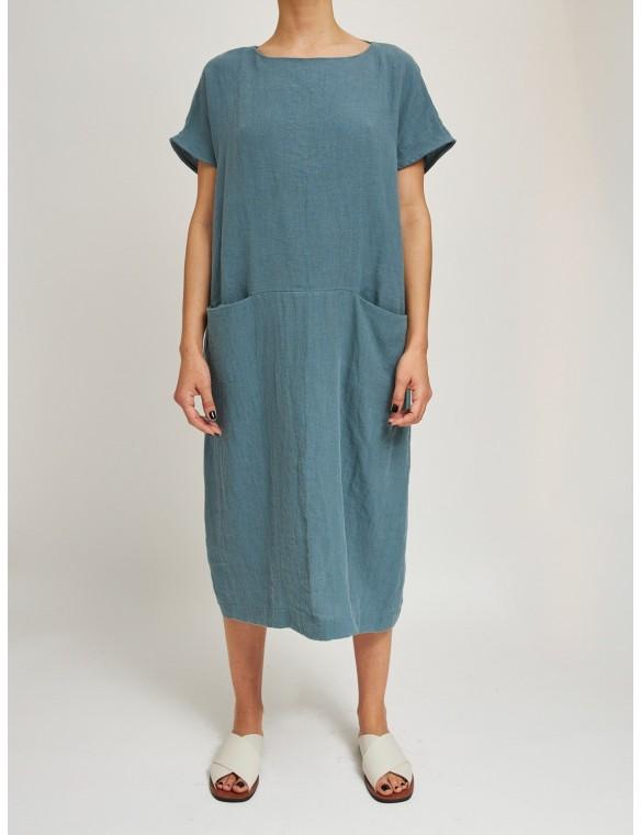 Oversize organic linen dress