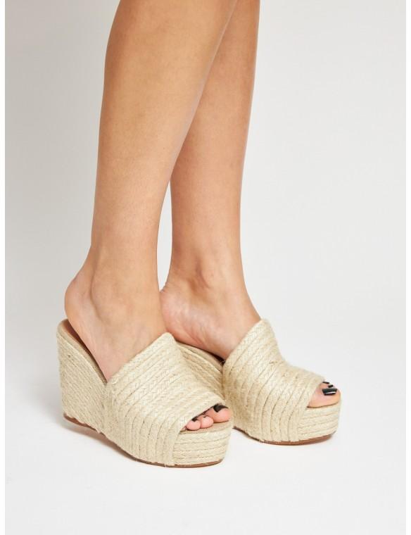 Platform esparto sandal