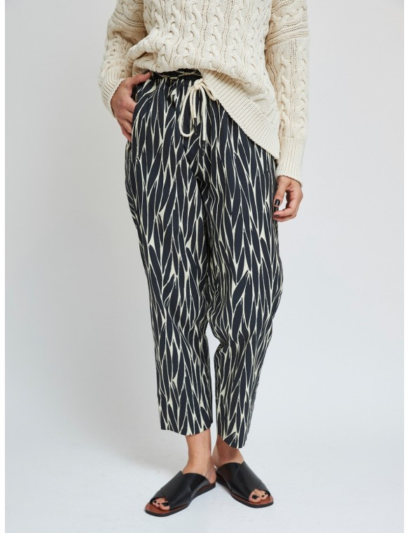 Printed pants with elastic...