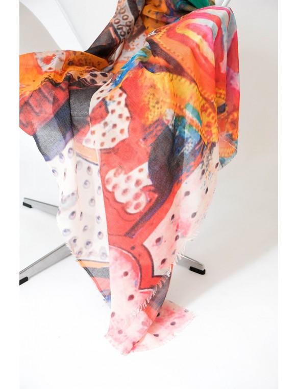 Foulard estampado multicolor