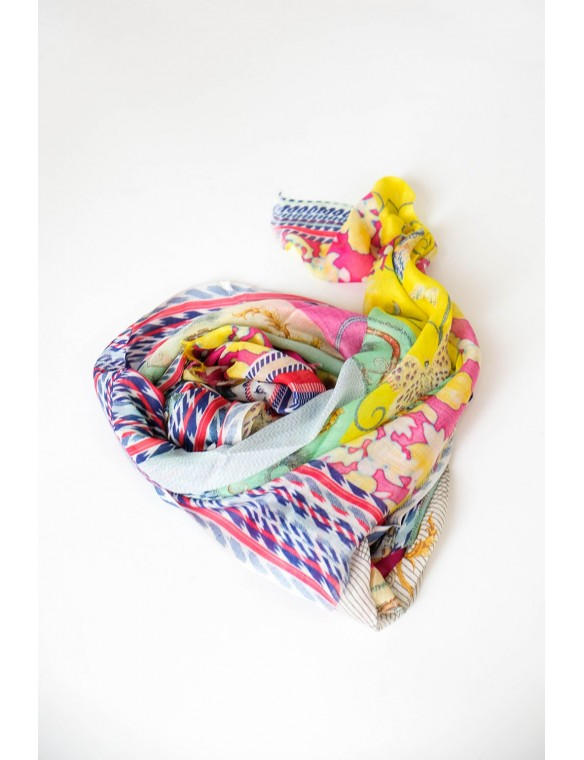 Multicolour print scarf