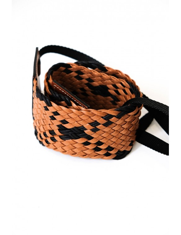 Bicolor braided belt