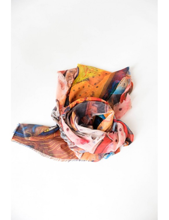 Foulard estampado multicolor