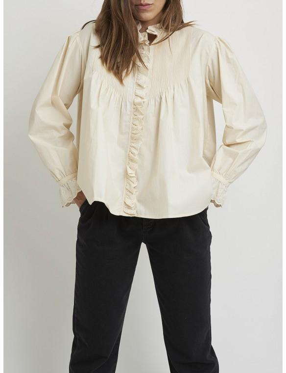 romantic volume sleeve shirt
