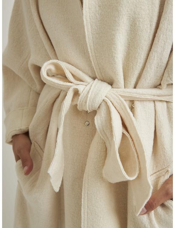 Beige Knit coat