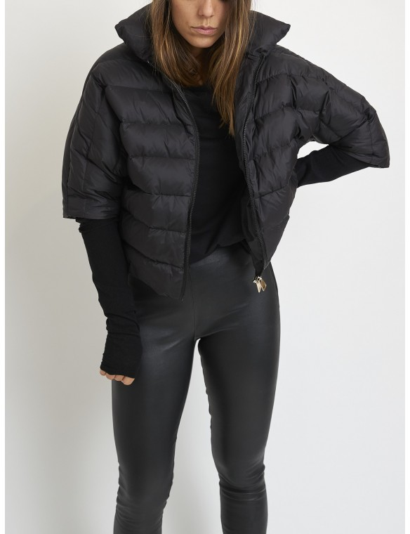 Short down jacket with gloves