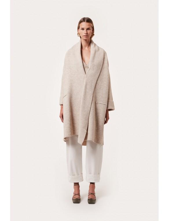 Long knit jacket