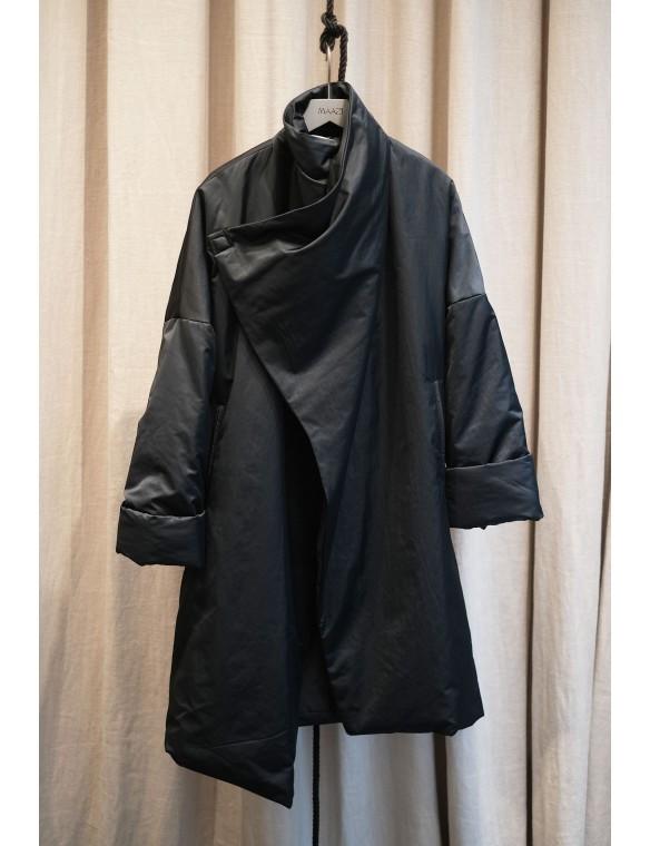 Asymmetric wrap coat
