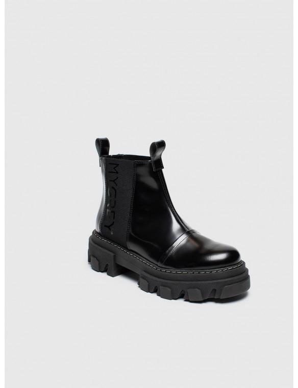 Elastic antik ankle boots