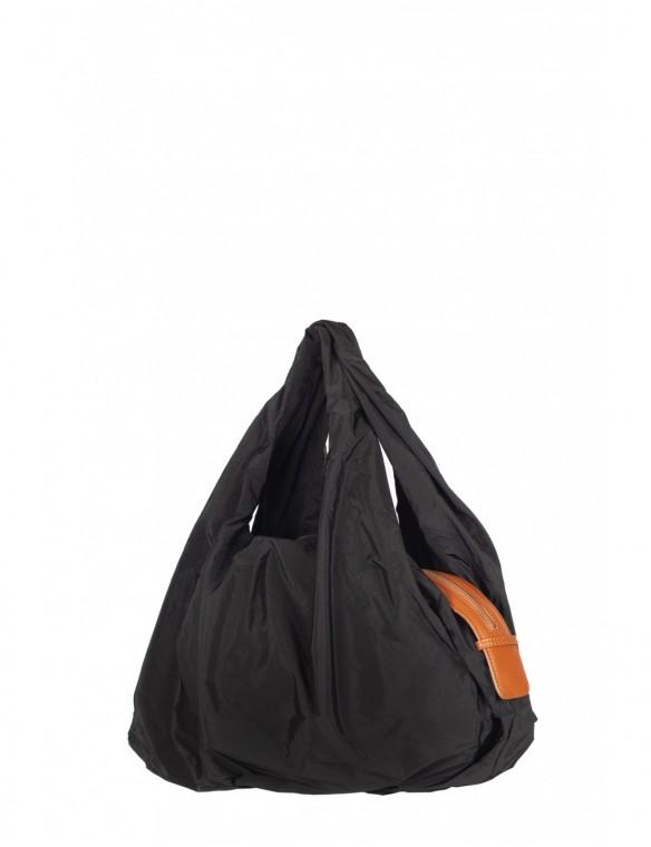Nylon and leather bag