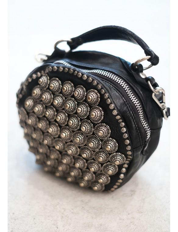 Round beaded bag