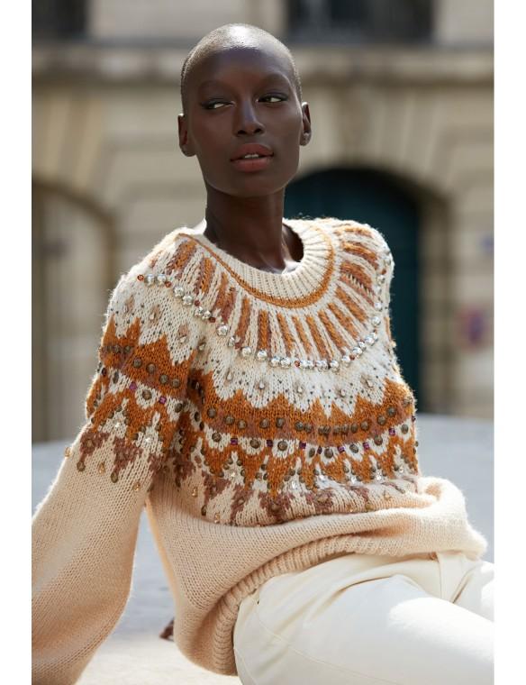 Ethnic wool sweater