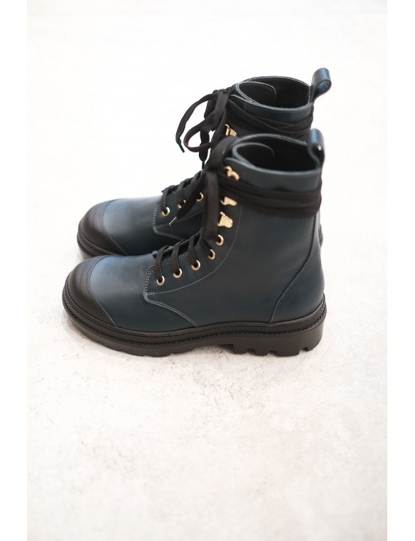 Military green boots