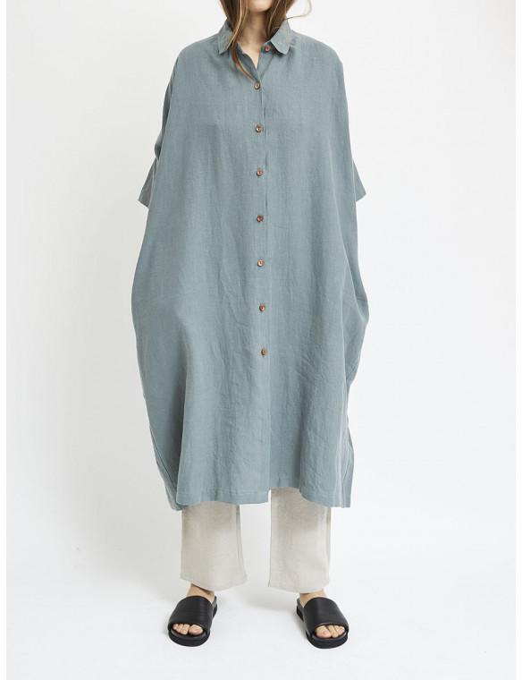 Vestido lino oversize