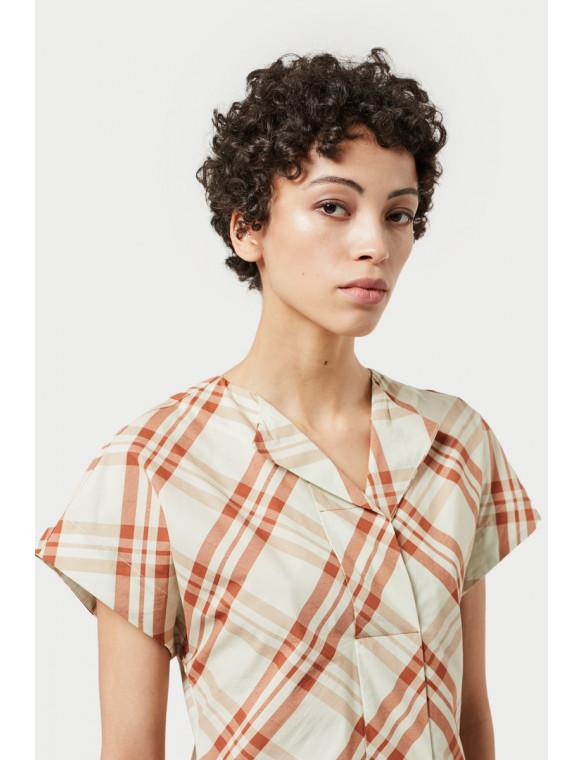camisa cuadros popelin m c