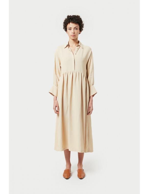 Vestido lino camisero