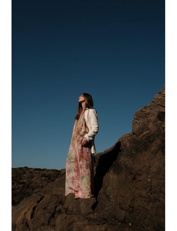 Mono/vestido seda estampado