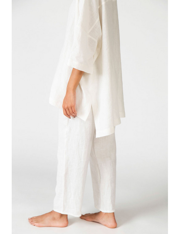 pantalón capri lino organico
