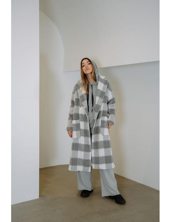 Abrigo lana cuadros