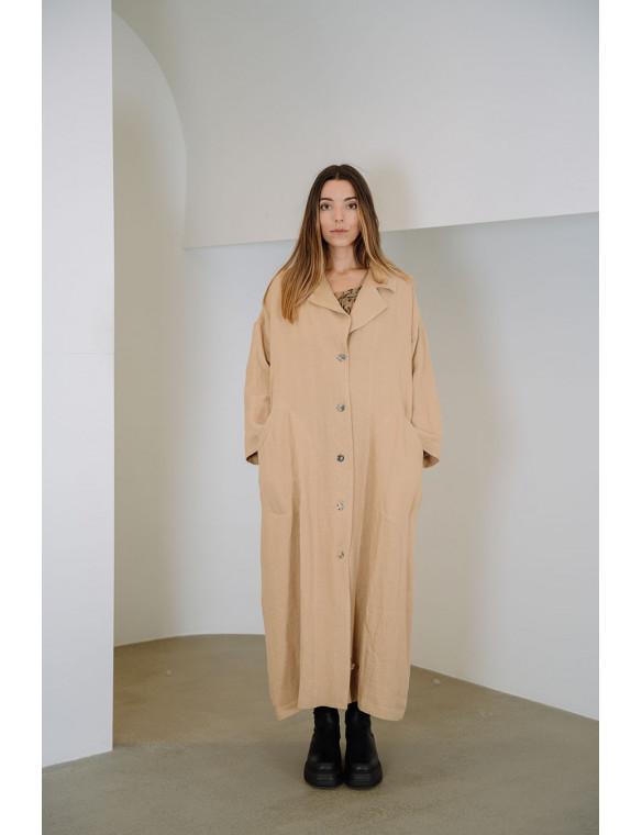 Abrigo oversize lino