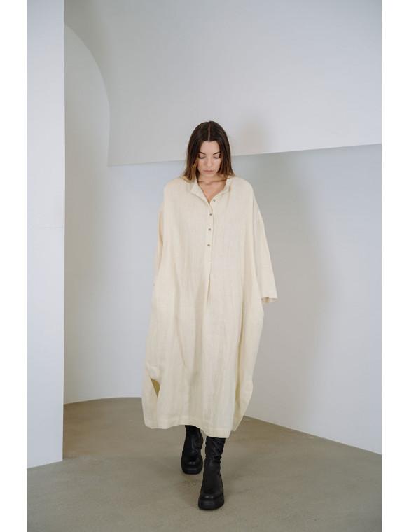 Vestido oversize lino organico