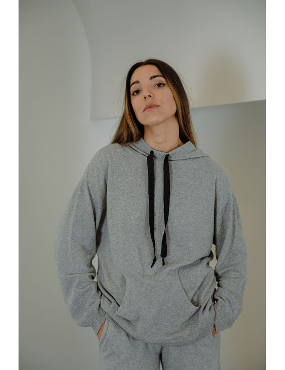 Sudadera capucha cashmere