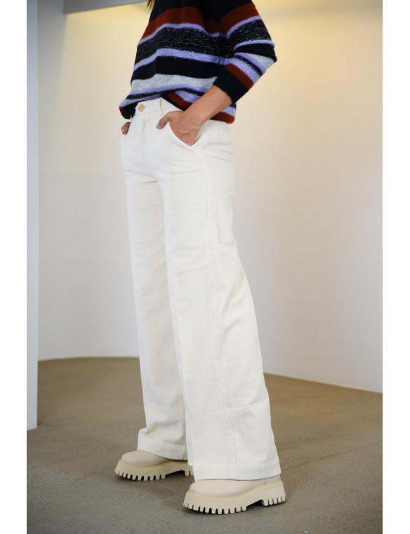 Pantalon pana recto