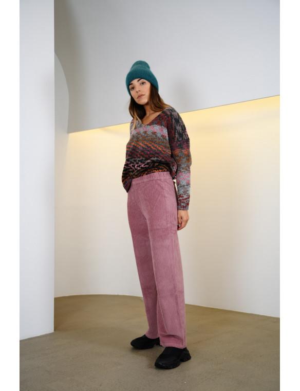 Pantalon pana goma recto