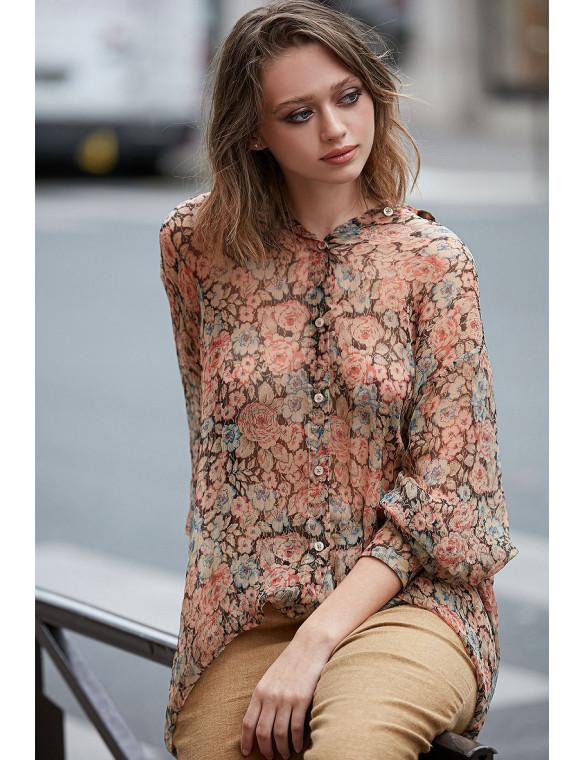 Camisa vaporosa flores