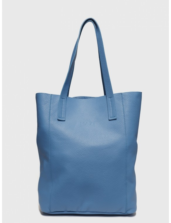 Leather Midi Shopping Bag