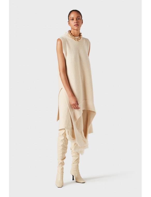 Chaleco lana asimétrico