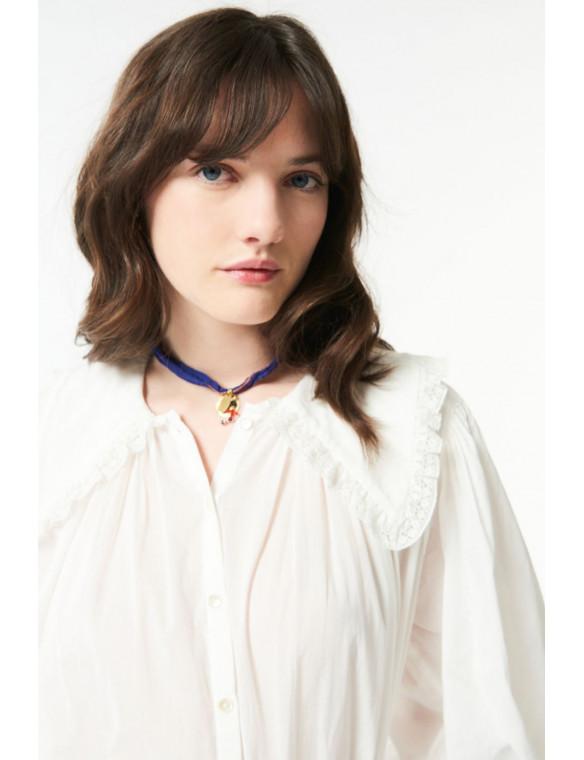 Camisa cuello bordados