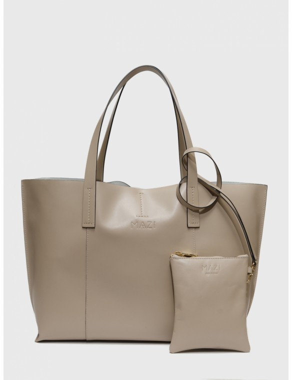 Leather Line Midi Shopping Bag