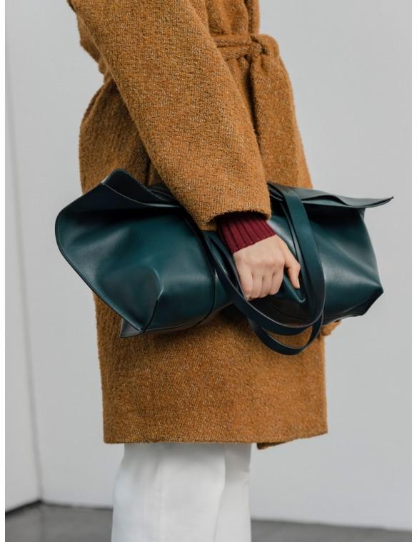 Leather Line Midi Shopping Bag