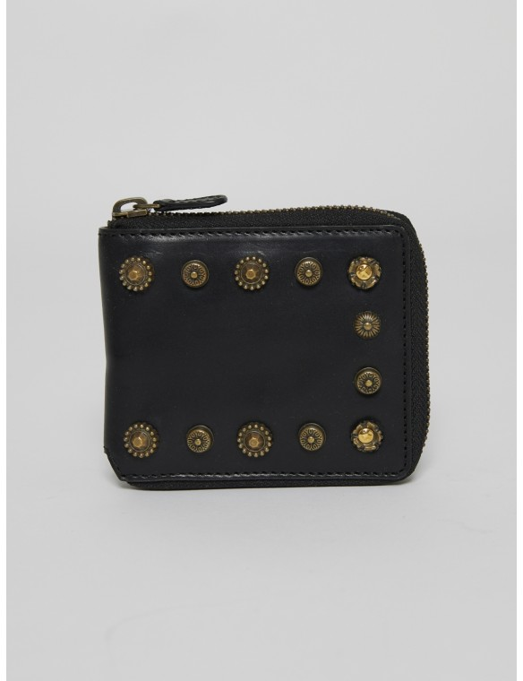Black Leather Celestina Wallet
