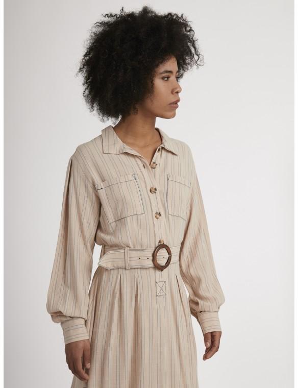 Loneta striped dress.
